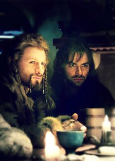 """""""At the time of the Quest for Erebor, Fili was 82 and Kili 77. Since the average…"""