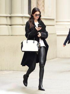 Mais uma do estilo Kendall! Ela é bem clean do jeito que eu amooo  os acessórios arrematam os looks!