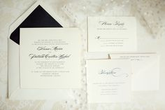 Simple, classic wedding invitation design.