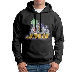 Hotboy19 Men's Long Sleeve Sweatshirt James Madison University Black Size XXL ** Find out more about the great product at the image link.