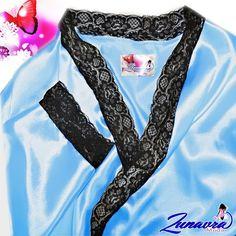 Saténový župan - modrý Tie Dye, Tops, Women, Fashion, Moda, Fashion Styles, Tye Dye, Fashion Illustrations, Woman