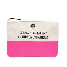 kate spade new york Call to Action Seat Taken Canvas Gia Pouch #VonMaur