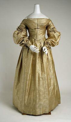 Dress Date: ca. 1836 Culture: probably American Medium: silk Dimensions: Length at CF: 50 3/4 in. (128.9 cm)