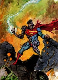 Cyborg Superman by Dave Crosland Alex Chung, Superman And Lois Lane, Comic Art, Comic Books, Lex Luthor, Man Of Steel, Reference Images, Hero Arts, Movies