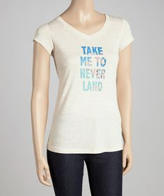 This Beige 'Take Me to Neverland' Tee by Citi Life is perfect! #zulilyfinds