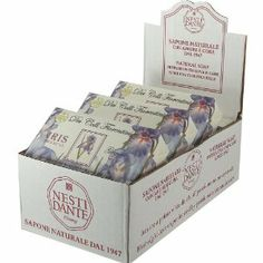 "Nesti Dante Iris Extra Large 8.8 oz Soap Bar Case of 6 by Nesti Dante. $49.99. Sold by the case for extra value. Iris scent. NESTI DANTE Soaps (saponi) are prepared respecting the age-old tradition of the true Italian ""Saponeria"" - the cauldron method. Nesti Dante remains one of only a few companies in the world that continues to use the handicraft method of saponification. Nesti Dante products do not test on animals and all soapsare dermatologically tested. NESTI DANTE ITALIA... Soap Bar, Animal Testing, Cauldron, Handmade Soaps, Soap Making, Handicraft, Heavenly, Bath And Body, Iris"
