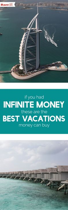 Most of us have to scrimp and save in order to afford any sort of vacation.But if money were no object, here are five places where you can rub elbows with celebrities and enjoy endless pampering when you need to get away from it all.  #vacation #bestvacations #resorts #rich #fortune #celebrity #vacationlocations #wanderlust #richandfamous