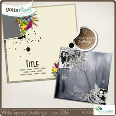 White Space Challenge with BooLand Designs -Includes FREE template  @ gottapixel.net