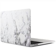 iDOO MacBook Schutzhülle / Hard Case Cover Laptop Hülle [Für 2016 MacBook Pro 13 Zoll: A1706/A1708] - matt, Weißer Marmor