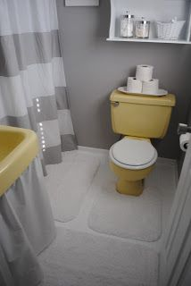 Mustard Yellow Tub And Toilet Updated Bathroom Remodelaholic - Inexpensive bathroom fixtures