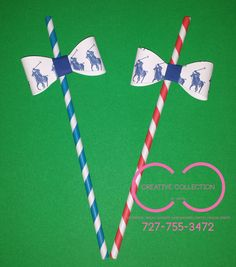 Polo Theme Straws sold in sets by ccbyshon on Etsy