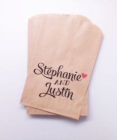 Wedding Personalized Candy Buffet Bags Party Favor Bags for Candy Lolly Stations