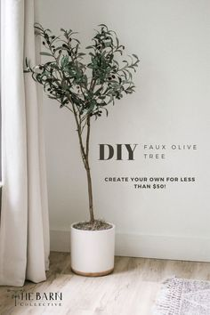 DIY Faux Olive Tree, make your own olive tree for less than $50! Modern casual home artificial plant decor look for less. One Room Challenge. Better Homes and Gardens. #fauxolivetree #olivetree #diyolivetree #diyinspo #houseplant #houseplants #fauxhouseplants #fauxplants Faux Olive Tree, Easy Diy Crafts, Kids Crafts, Faux Plants, Diy Wall Decor, Room Decor, Better Homes And Gardens, Interior Design Tips, Artificial Plants