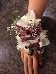 Image result for corsages for a maroon dress | Prom | Pinterest ... Gold Corsage, White Corsage, Prom Corsage And Boutonniere, Corsage Wedding, Flower Corsage, Wedding Bouquets, Corsages, Corsage Formal, Boutonnieres