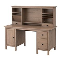 HEMNES Desk with add-on unit IKEA You can make room for a computer monitor or extra storage by adjusting the middle shelf.
