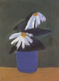 Nicolas de Staël - Fleurs au pot bleu, 1954, Oil on Canvas, 81 x 60 cm.