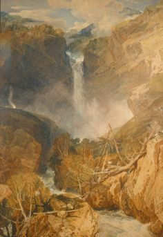 The Great Falls of the Reichenbach  1804  J. M. W. Turner