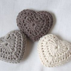 Crochet lavender hearts - Folksy