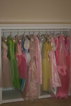 Playroom, open dress up closet