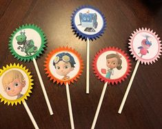 Items similar to Rusty Rivets Birthday Banner/Rusty Rivets Birthday Party/Rusty Rivets Party Decor/Rusty Rivets Cupcake Toppers on Etsy Fourth Birthday, Dinosaur Birthday Party, Birthday Cupcakes, Birthday Parties, School Decorations, Birthday Decorations, Blaze And The Monster Machines Cake, Lollipop Sticks, Cupcake Toppers