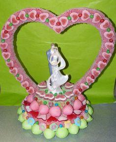 Image - GATEAU COEUR SIMPLE EN BONBON - Les jolis bonbons! - Skyrock.com