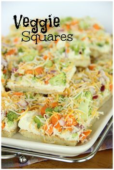 Veggie Squares-Easy and great alternative to a veggie tray at your next gathering!