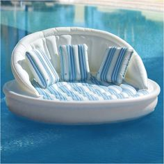 Floating couch for the pool