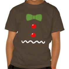 Gingerbread Man Costume Tee Shirts for kids, women, and men available at Zazzle.