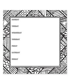 This Color Me Weekly Desk Pad is perfect! #zulilyfinds