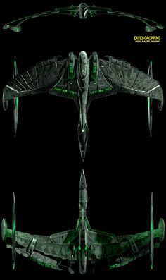 Romulan Warbird Valdore, a design thst does proper homage to the original Warbird design while adding just enough Klingon influence to be seen as a native design benefitting from that foreign input.