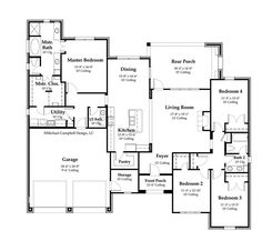 2000 Sq FT Floor Plans | ... Plan, South Louisiana House Plans - 2,000+ sq.ft - Our House Plans ♣ 14.12.5