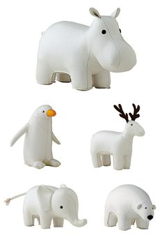 White Menagerie Bookends from Serena & Lily « buymodernbaby.com