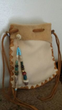 Deer Hide Pouch made by Fox Run Leather Designs