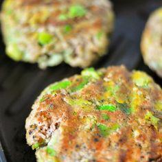 Avocado Turkey Burgers Recipe Main Dishes with ground chicken, avocado, garlic, chili powder, pepper, panko breadcrumbs