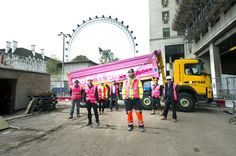 The amazing McGee Southbank Place guys showing how to #wearitpink with serious style! via @mcgee_group