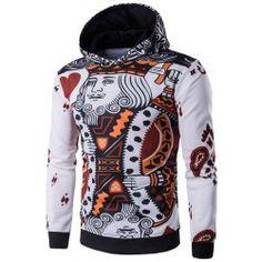 Dsood Mens Hoodie,Hoodies Sweatshirt Autumn Winter Mens Long Sleeve Pullovers 3D Print Tracksuit Plus Size