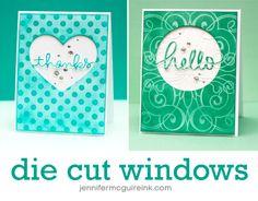 Die Cut Window Card Video by Jennifer McGuire Ink