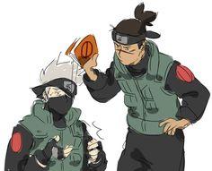 Kakashi Hatake x Iruka Umino / Naruto Naruto Kakashi, Naruto Shippuden Sasuke, Anime Naruto, Naruto Cute, Naruto Funny, Shikamaru, Gaara, Sasunaru, Funny Anime Pics