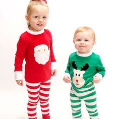 6dccd28f66 Christmas Xmas Baby Kids Long Sleeve Shirt Pants Child Homewear Outfits  Toddler Christmas Outfit