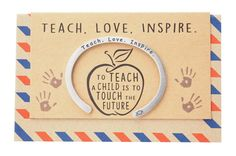Our Madeleine Teacher Gifts Cuff Bracelets, Teach.Inspire Engraving with Greeting Card is the latest gift for teachers in our collection. This cuff bracelet features an inspirational message engraved on the bracelet. Teacher Graduation Gifts, Teacher Gifts, Engraved Gifts, Personalized Gifts, Valentine Gifts For Girlfriend, Valentines, Leaving Presents, Best Gifts For Her, Teachers' Day