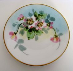 Bavaria Favorite Porcelain plate / gold rim / pink by Vinphemera,