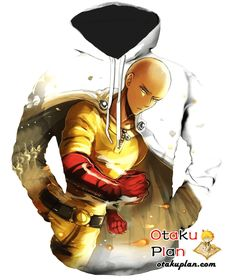 One Punch Man Cheerful Hero for Fun Saitama Hoodie - One Punch Man 3D Hoodies And Clothing