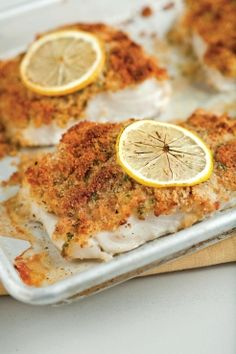 Peixe assado com limão siciliano