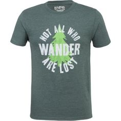 Big Bend Outfitters Men's Not All Who Wander T-shirt (Grey, Size Large) - Men's Outdoor Apparel, Men's Outdoor Graphic Tees at Academy Sports