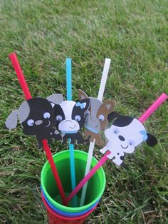 Puppy Party Straws