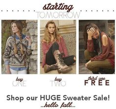 It's gonna happen. Cold weather.  Don't worry we've got you covered for way less than the mall. Check out our BOGO sweater sale this weekend. http://ift.tt/2djp4PG - http://ift.tt/1HQJd81