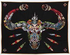 Male quilter - Ben Venom - he uses #heavymetal rock band t-shirts to make his #quilts