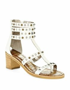 48059c96c Sam Edelman Dion Studded Sandals WHITE