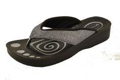 Sølv glitter sandal fra Aerowalk