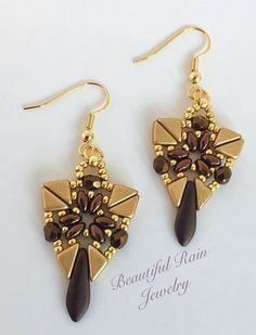 Taylin Earrings Pattern Beaded Earrings Pattern using Tango